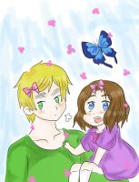 APH-Wearing bows together by AyanoHana