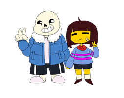 Sans And Frisk by Jinxitor