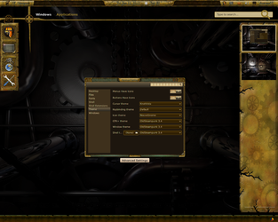 ~samriggs Old Steampunk 3.4 Gnome shell theme by cbowman57