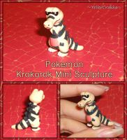 Pokemon - Krokorok Mini Sculpture - Handmade