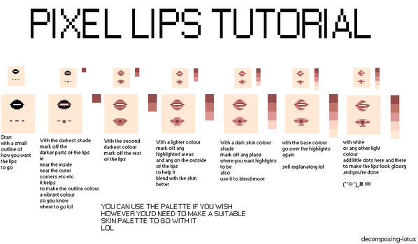 How i pixel lips by decomposing-lotus
