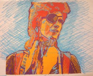 Bowie fluorescent collage ii by Sculptbrown