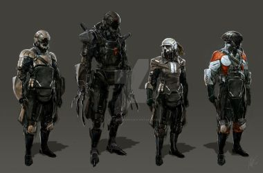 Sci Fi People 1 by jeffsimpsonkh