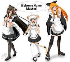 Honey Sweethearts -Maids- by AzureRat