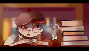 Books lover by SteamingOwl
