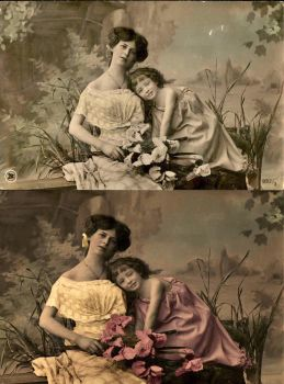 Mommy and Me, Before and After by Shirley-Agnew-Art
