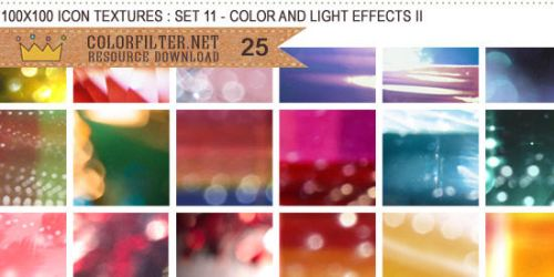 Icon Textures Set 11 - Colors and Lights II by colorfilter