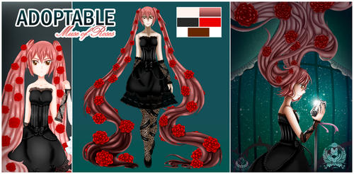 ADOPTABLE SET PRICE -Muse of Roses [OPEN] by Shironekoz