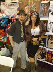 Phoenix ComiCon 2015 - Table and Booth Babe by DocRedfield