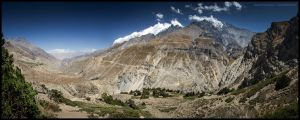Kyalunpa Khola valley by Dominion-Photography