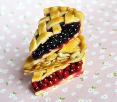 Miniature Polymer Clay Pie Slices by ScrumptiousDoodle