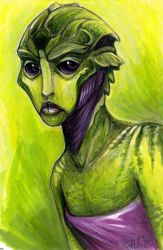 Female Drell by caramitten