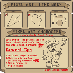 Basic Pixel Art Tutorial: Line work Animated Gif by Dulcahn