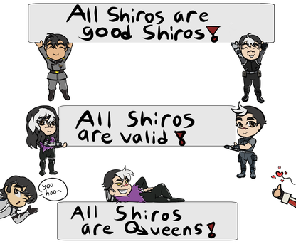 All Shiros are~ by Mel-Meiko-Mei-Ling