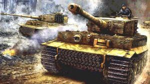 Tiger Tank I late version on battle rush by WULF-1045