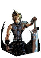 Cloud Final Fantasy Pinup Colored by Erykkr