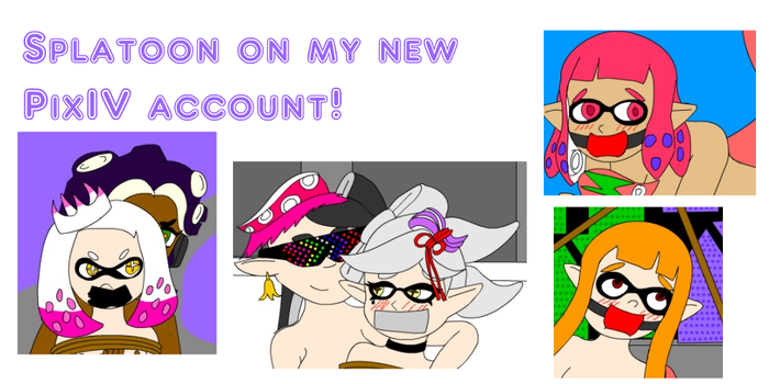 Now Im on pixiv with new Splatoon pic by SuperTailsHero
