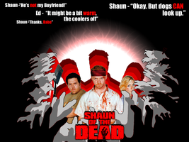Shaun of the Dead Wallpaper by Kristov94