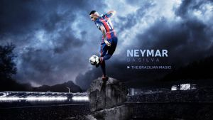 Neymar 2016/17 Wallpaper by RakaGFX
