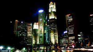 Singapore skyline by amiyain