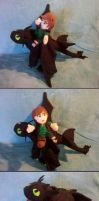 Hiccup and Toothless Plushies by Skylanth