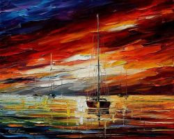 Night Sky by Leonid Afremov by Leonidafremov
