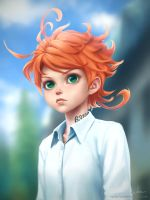 Emma  [The Promised Neverland] fan art. by Apegrixs
