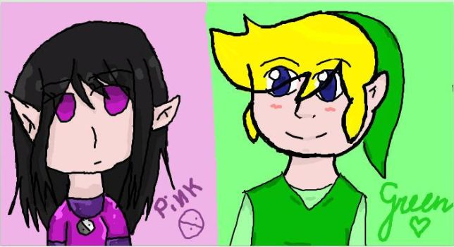 Pink and Green on Iscribble by Ketgirl1992