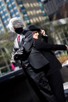 Suit confrontation by Suki-Cosplay
