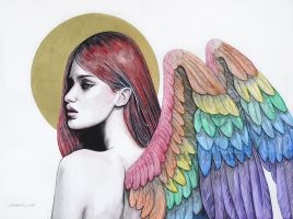 Rainbow angel by ericadalmaso