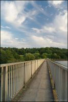 A walkway at Worsbrough reservoir by squareprismish