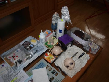 My work table by PequeCosa