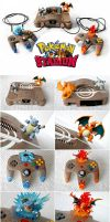 Pokemon Stadium Nintendo 64 - Custom Painted