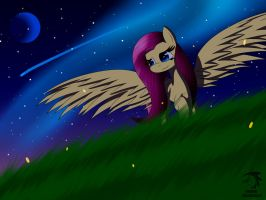 MLP Fluttershy at night by Mechanized515