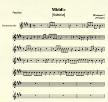 The Middle for Alto Sax by MrConan42