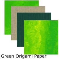 Green Mix Origami Paper by DIN1031