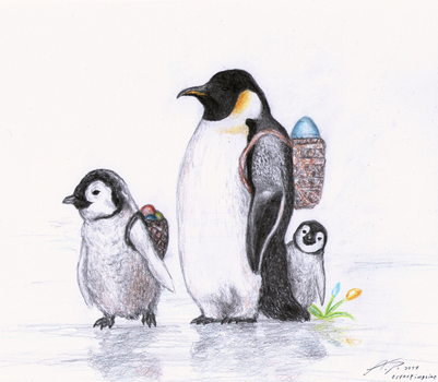 Easter Penguins by punkandartStJimmy
