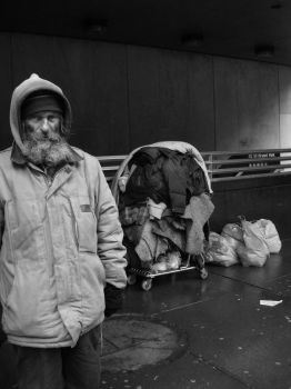 Homeless Man NYC by vivid-i-photography