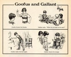 Goofus and Gallant by oogaa