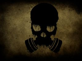 Gas Mask Skull by GreatJester