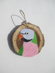Mustache Parakeet Ornament by MadalynC