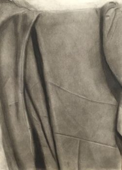 Fabric Study in Charcoal by Aelorn