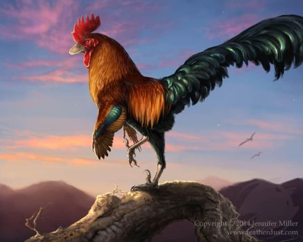 Velocirooster Mongoliensis by Nambroth