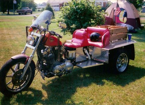 Harley Davidson Sportster Trike by Coffin-maker