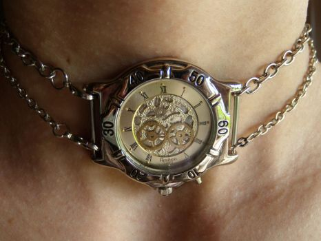 Steampunk choker by Hiddendemon-666