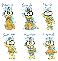 Lakitu Princess outfits by IceCreamLink