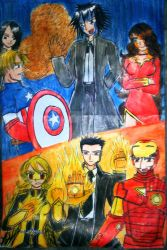 Villains' Attack on Avengers by e31