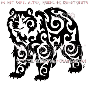 Kazakh Tribal Bear Design by WildSpiritWolf