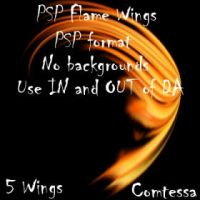 Flame Wings 1 by Comtessa-Stock
