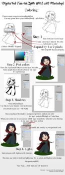 Little Witch Tutorial - Coloring Page 1 by ZellyKat